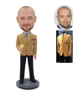 Custom Bobbleheads Gifts For Your Boss Male, Custom Boss Bobbleheads From Photo - Abobblehead.com