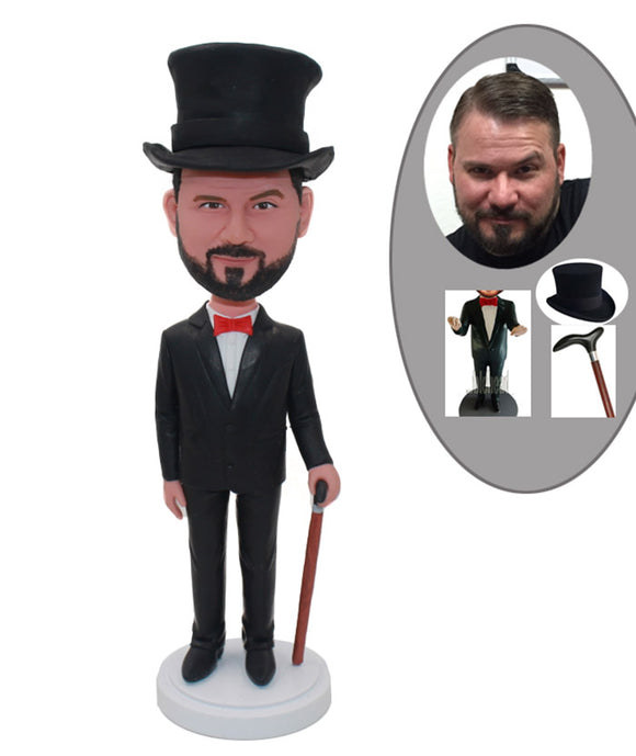 Custom Bobbleheads Gentleman Hat, Create Your Own Action Figure - Abobblehead.com
