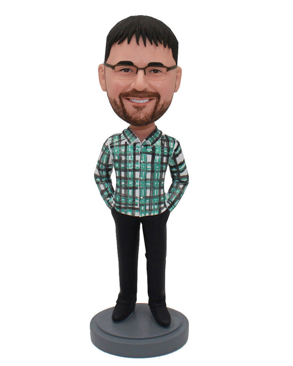 Cheap Custom Man Bobbleheads Hands in the Pocket