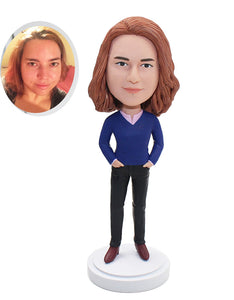 Custom Made Women Bobblehead That Looks Like My Daughter - Abobblehead.com