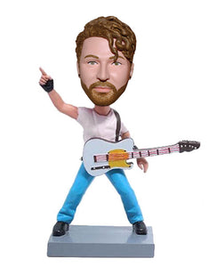 Custom Guitar Bass Bobbleheads, Personalized Bobblehead For Bass Player - Abobblehead.com