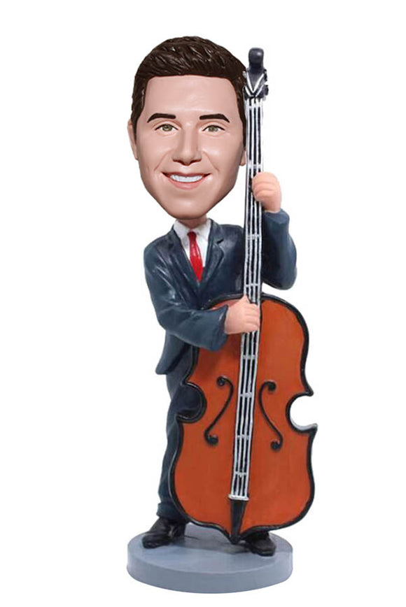 Personalized Cello Bobbleheads, Custom Cello Player Bobblehead - Abobblehead.com