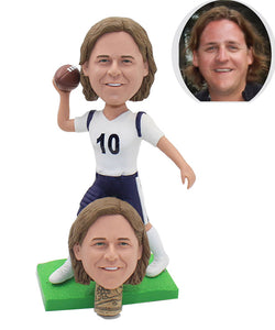 Personalized Bobbleheads Gift For Football Player, Custom Football Player Bobblehead - Abobblehead.com