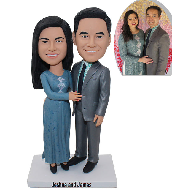 Custom Couple Bobbleheads, Personalized Wedding Bobbleheads Gifts for Newly Wedded Couple - Abobblehead.com