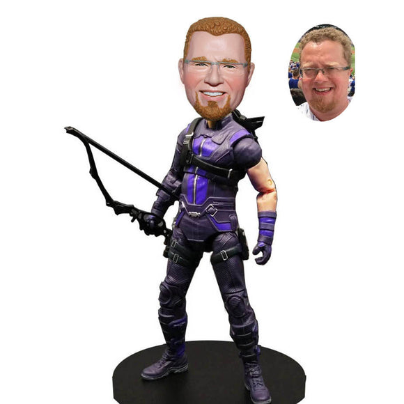Custom Action Dolls From Your Photos, Custom Clint Barton Hawkeye Bobblehead - Abobblehead.com