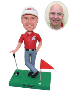 Custom Golfer Bobblehead, Personalized Golf Bobbleheads Gifts For Men - Abobblehead.com