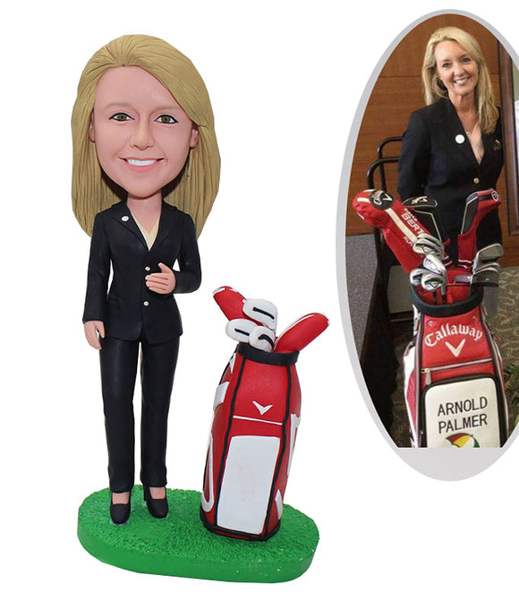 Best Personalized Golf Bobblehead, Personalized Women Golf Bobbleheads - Abobblehead.com
