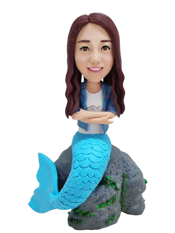 Custom Mermaid Bobbleheads That Look Like You - Abobblehead.com