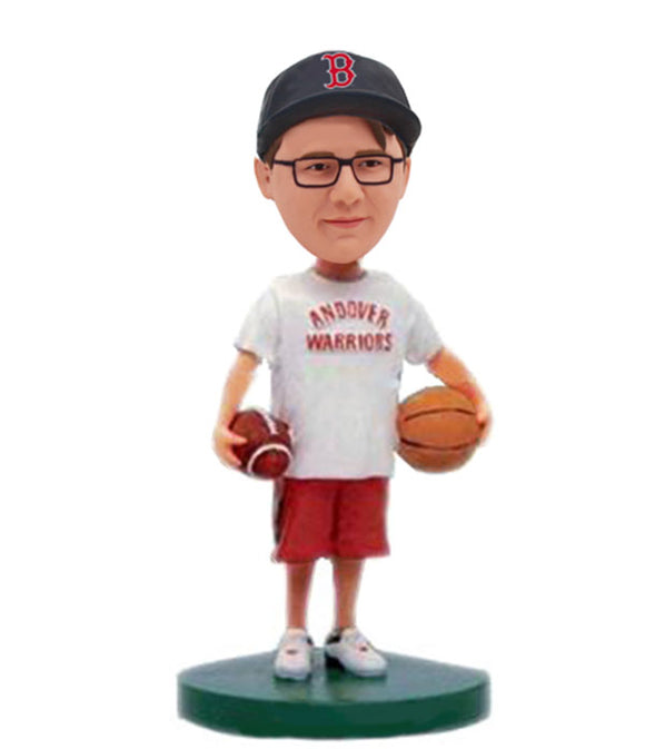 Custom Bobbleheads Basketball and Rugby, Bobblehead Basketball Players College Students - Abobblehead.com