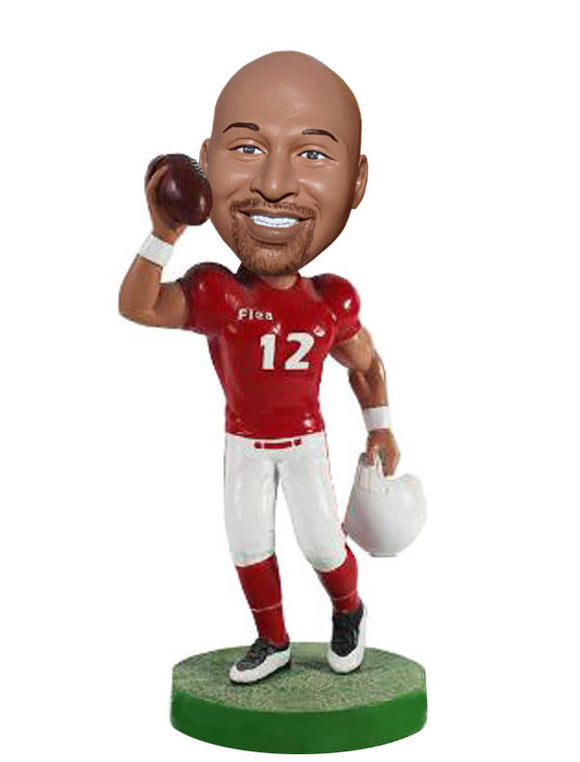 Custom NFL Bobbleheads Dolls Of Yourself, Custom Rugby Player Bobblehead - Abobblehead.com