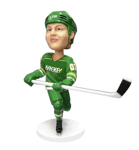 Custom Ice Hockey Gifts For Him, Custom Hockey Player Bobble Head - Abobblehead.com
