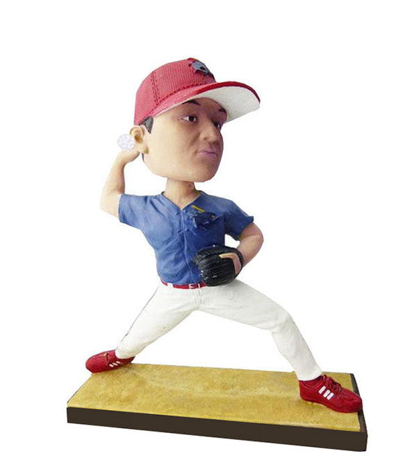 Custom Baseball Bobbleheads Doll Made From Photo, Baseball Pitcher Bobblehead - Abobblehead.com