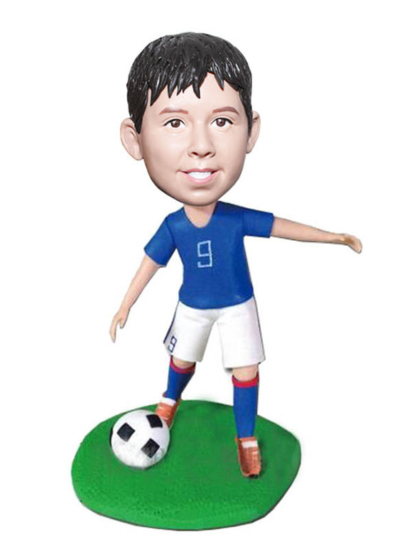 Custom Personalized Football Bobblehead For Kid, Personal Boy Bobblehead Dolls Football - Abobblehead.com