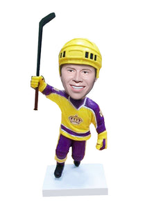 Custom Hockey Player Bobblehead, Personalized Gifts for Hockey Lovers - Abobblehead.com