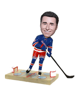 Personalized Ice Hockey Bobblehead, Custom Unique Ice Hockey Gifts for Him - Abobblehead.com