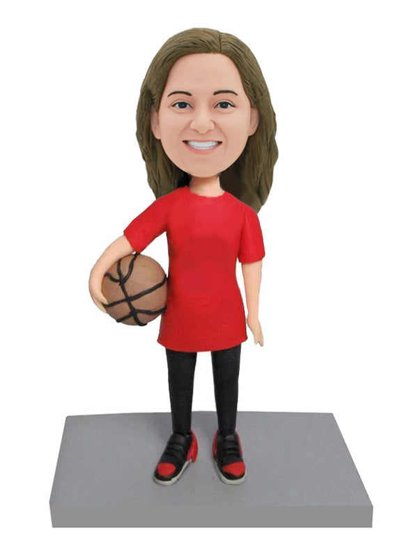 Cheap Personalized Bobblehead Basketball Girl Doll, Personalized Basketball Girl Gift - Abobblehead.com