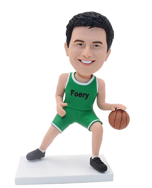 Custom Bobblehead Playing Basketball Doll, NBA Players Bobbleheads - Abobblehead.com