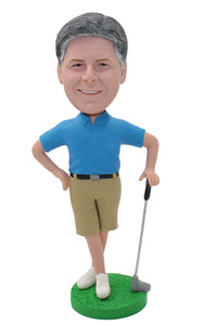 Custom Golf Bobbleheads, Make Your Own Golf Bobblehead Doll - Abobblehead.com