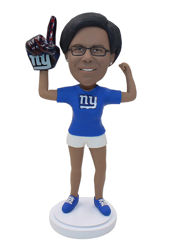 Personalized Foam Finger Bobbleheads, Make My Own Bobblehead Forefinger - Abobblehead.com