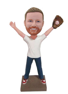 Custom Baseball Pitcher Bobblehead, Customized Bobbleheads Baseball Catcher - Abobblehead.com