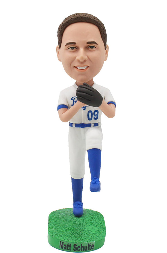 Custom Baseball Pitcher Bobblehead, Personalized Bobblehead Gift For Young Baseball Player - Abobblehead.com