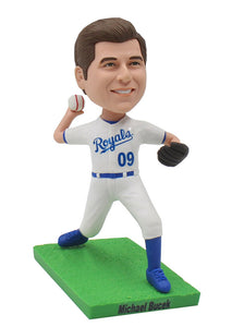 Custom Right Handed Pitcher Bobblehead, Customized Baseball Pitcher Bobbleheads - Abobblehead.com