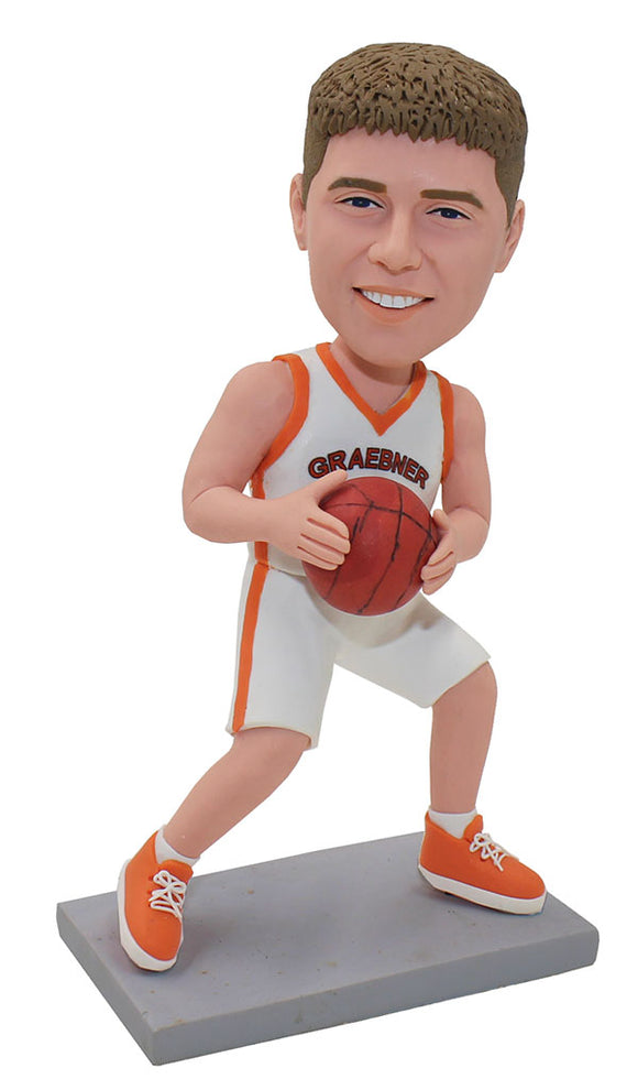 Personalized Basketball Player Bobblehead, Make Your Own Basketball Bobblehead - Abobblehead.com
