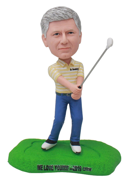 Custom Golf Bobblehead For Dad, Boss, Friend - Abobblehead.com