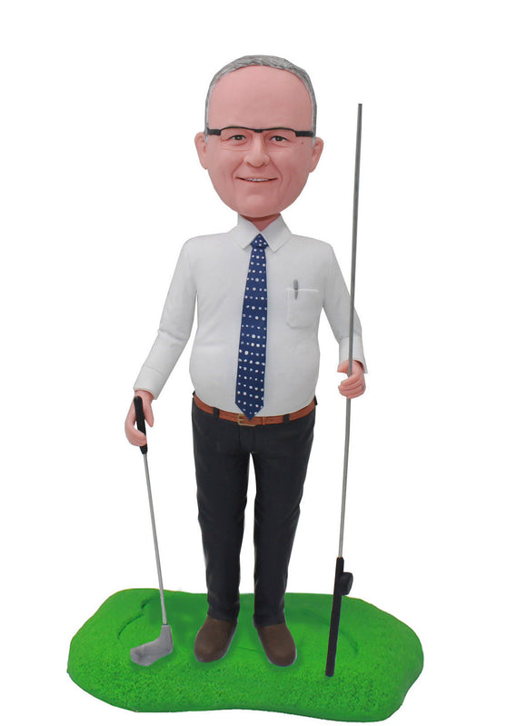 Custom Golf Bobblehead For Boss Man, Unique Golf Gifts For Men - Abobblehead.com