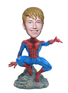 Spiderman Bobble Head Custom From Your Photo, Customized Spiderman Bobblehead - Abobblehead.com