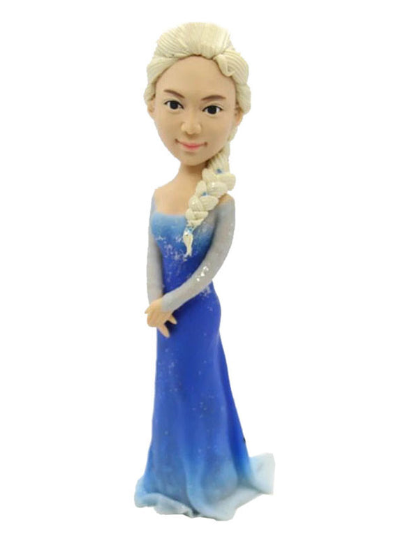 Custom Princess Aisha Bobblehead, Personalized Bridesmaid Bobbleheads - Abobblehead.com