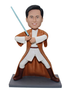 Custom Jedi Knights Bobbleheads Look Like You, Personalized Jedi Bobblehead - Abobblehead.com