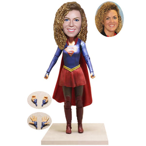 Make a Supermom Bobblehead Of Yourself, Custom Superhero Bobblehead - Abobblehead.com