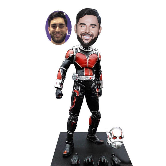 Custom Scott Lang Ant-Man Bobbleheads, Custom Superhero Bobblehead From Your Photos - Abobblehead.com