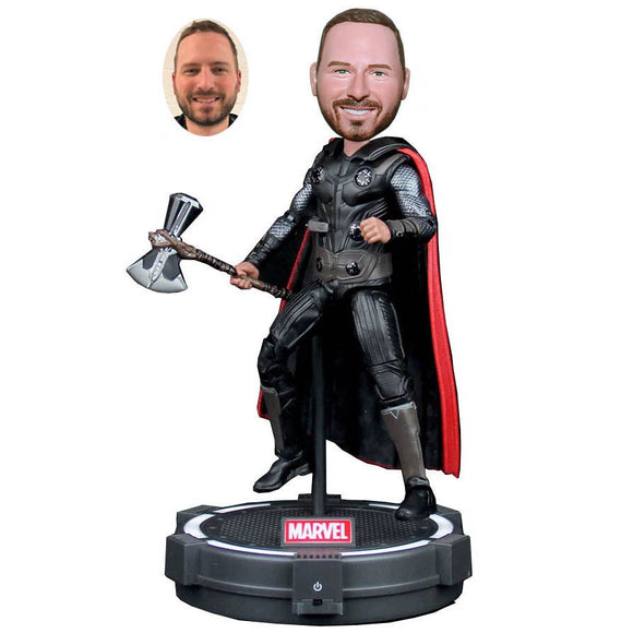 Make Your Own Thor Bobblehead From Photo, Custom Made Bobblehead With Thor Hammer - Abobblehead.com