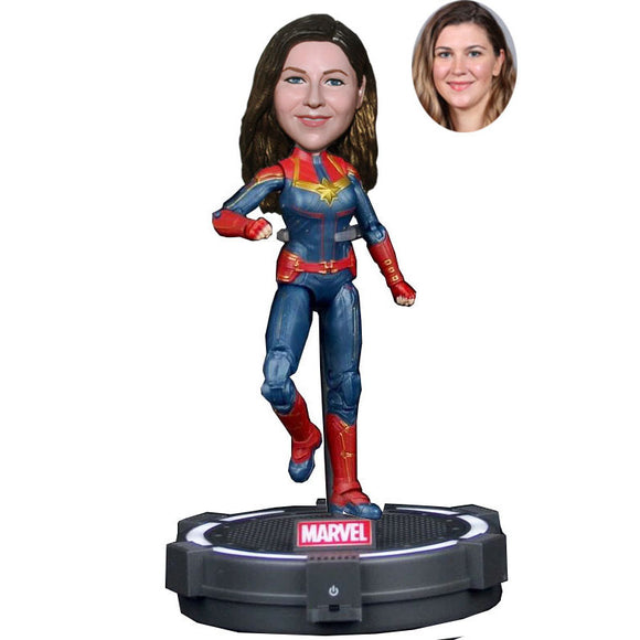 Custom The Avengers4 Carol Danvers  Captain Marvel Bobbleheads Action Figure - Abobblehead.com