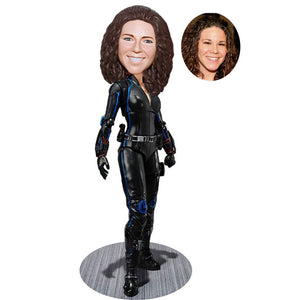 Custom The Avengers Natasha Romanoff  Black Widow Bobblehead - Abobblehead.com