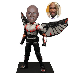 Action Dolls Custom Sam Wilson Falcon Bobblehead From Photo - Abobblehead.com