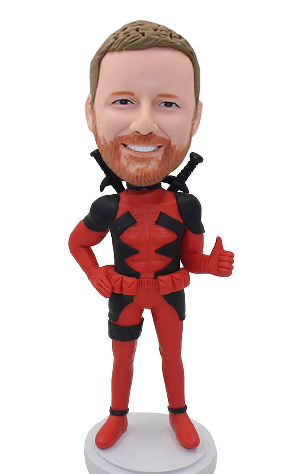 Custom Deadpool Bobblehead From Your Photo, Custom Deadpool Figure - Abobblehead.com