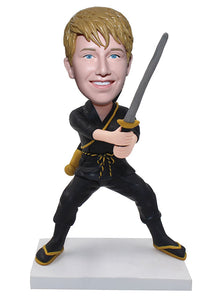 Custom Samurai Figure That Look Like You, Make Your Own Bobblehead - Abobblehead.com