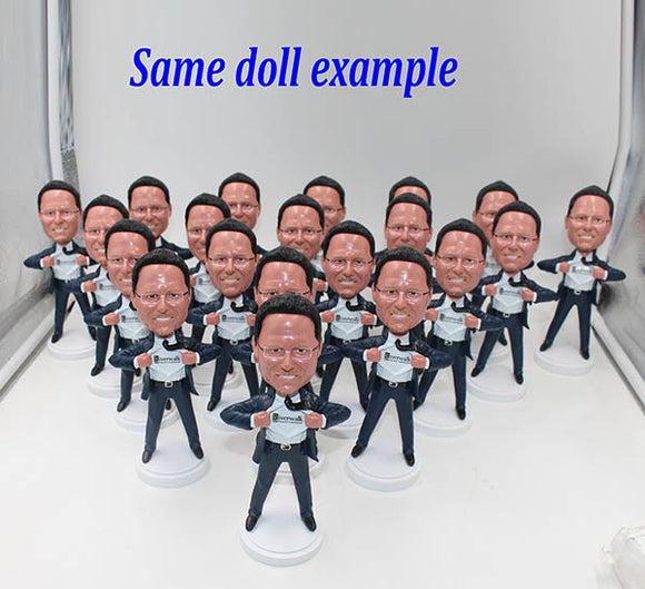 Bulk Custom Bobbleheads 100+ All Of Them Are The Same Free Shipping - Abobblehead.com