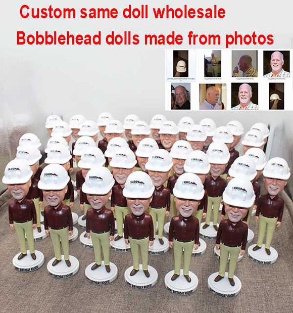 Bulk Custom Bobbleheads 1000+ All Of Them Are The Same Free Shipping - Abobblehead.com