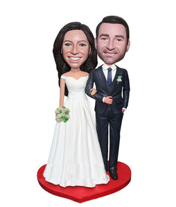 Wedding Bobblehead Cake Toppers, Personalized Cake Toppers For Weddings - Abobblehead.com