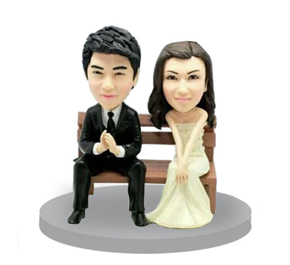 Custom Bobblehead Wedding Topper, Custom Bobble Head Bride and Groom - Abobblehead.com