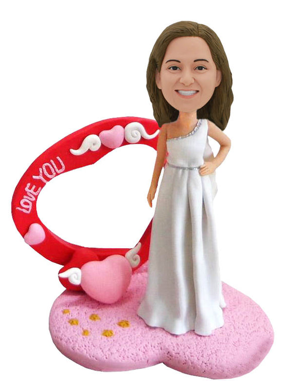 Custom Bride Bobbleheads That Look Like Your Bride, Personalized Bride Doll - Abobblehead.com