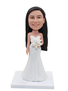 Custom Bride Bobblehead, Personalized Bridesmaid Figurines From You Picture - Abobblehead.com