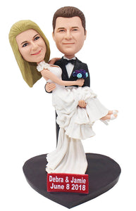 Personalized Bride And Groom Dolls Than Look Like You, Bride & Groom Bobbleheads - Abobblehead.com