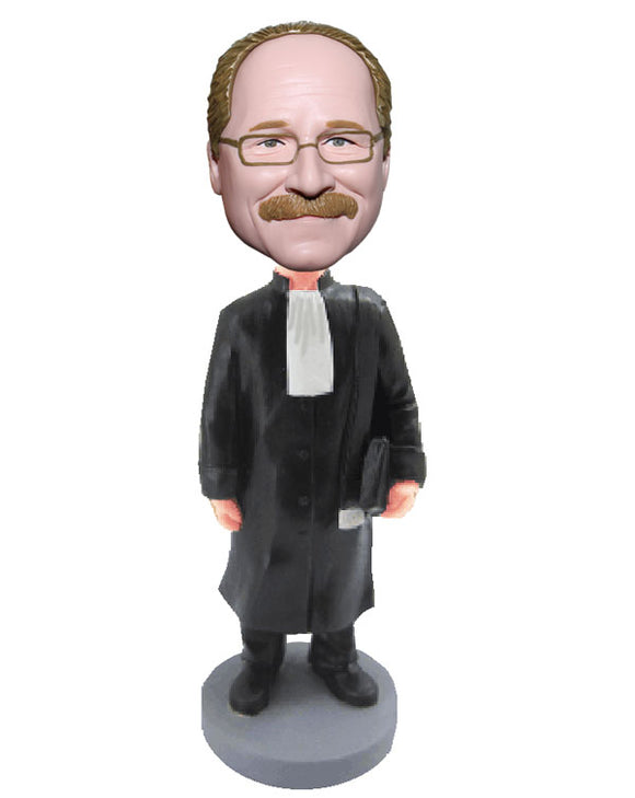 Custom Lawyer Bobbleheads, Personalized Judge Bobbleheads, Customized Barrister Bobblehead - Abobblehead.com