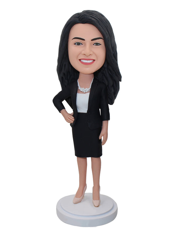 Custom Boss Bobblehead Female From Photo, Cool Gifts For Office Staff - Abobblehead.com