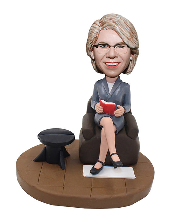Custom Bobblehead Groupon Corporate gifts, Female Boss Bobblehead - Abobblehead.com